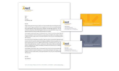 ANet Letterhead and Business Cards